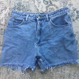 Lizwear Vintage Size 14 High Waisted Denim Shorts